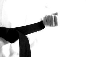 black-karate-belt