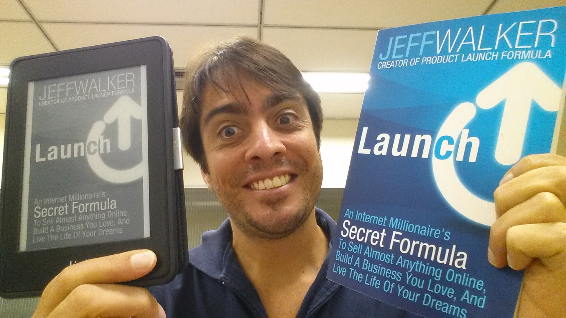 Launch, do Jeff Walker, nas edições Amazon Kindle e Impressa